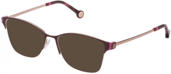 CH Carolina Herrera VHE137 sunglasses in Shiny Red Gold