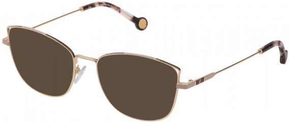 CH Carolina Herrera VHE133 sunglasses in Shiny Rose Gold