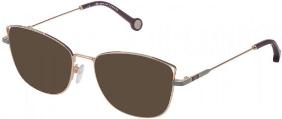 CH Carolina Herrera VHE133 sunglasses in Shiny Red Gold