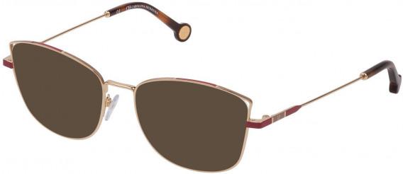 CH Carolina Herrera VHE133 sunglasses in Shiny Total Rose Gold