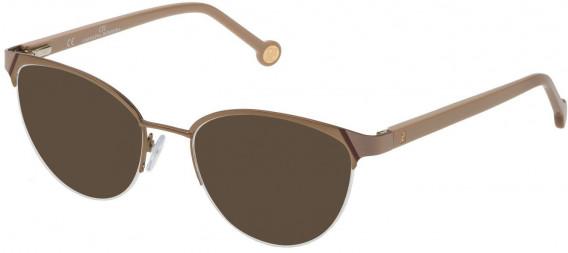 CH Carolina Herrera VHE126L sunglasses in Semi Matt Bronze