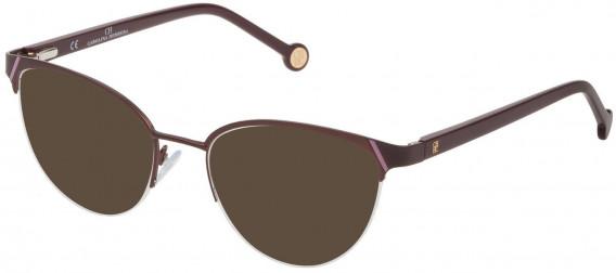 CH Carolina Herrera VHE126L sunglasses in Matt Bordeaux