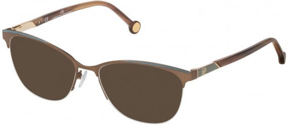 CH Carolina Herrera VHE123 sunglasses in Semi Matt Bronze