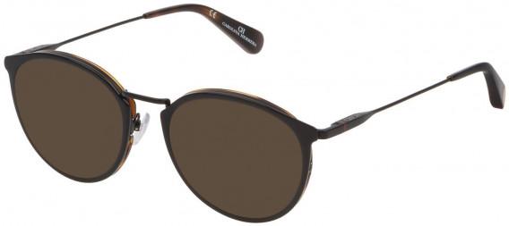 CH Carolina Herrera VHE115 sunglasses in Shiny Black Top/Havana
