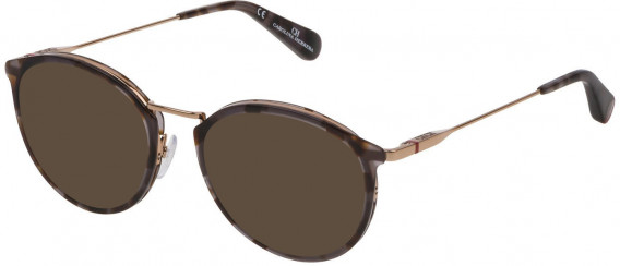 CH Carolina Herrera VHE115 sunglasses in Shiny Grey/Black Havana