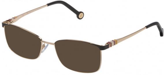 CH Carolina Herrera VHE114L sunglasses in Shiny Rose Gold/Black