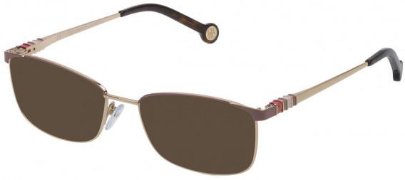 CH Carolina Herrera VHE114L sunglasses in Total Shiny Rose Gold