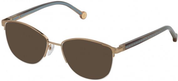 CH Carolina Herrera VHE112 sunglasses in Semi Matt Grey Gold
