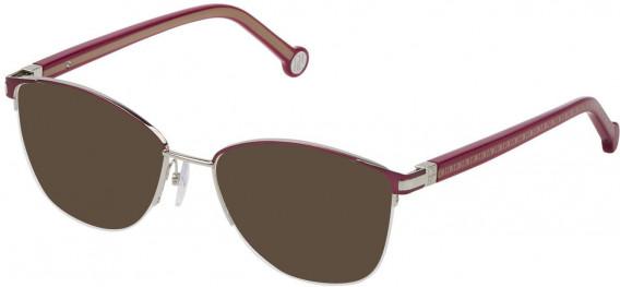 CH Carolina Herrera VHE112 sunglasses in Matt Bordeaux