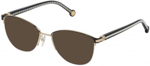 CH Carolina Herrera VHE112 sunglasses in Shiny Black