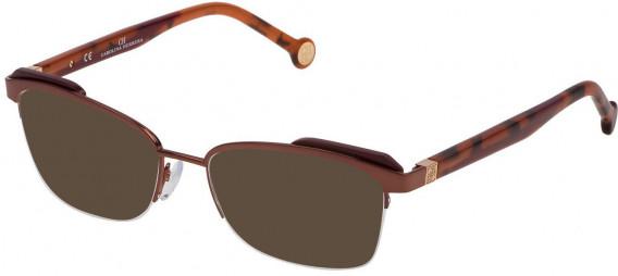 CH Carolina Herrera VHE111 sunglasses in Shiny Pearled Brown