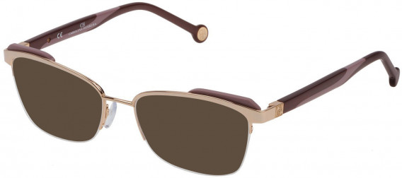 CH Carolina Herrera VHE111 sunglasses in Shiny Camel