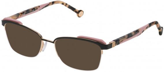 CH Carolina Herrera VHE111 sunglasses in Shiny Rose Gold