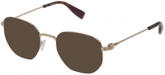 Trussardi VTR394 sunglasses in Shiny Grey Gold/Havana