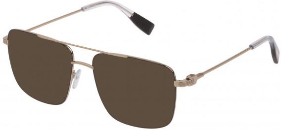 Trussardi VTR393 sunglasses in Shiny Grey Gold/Shiny Black