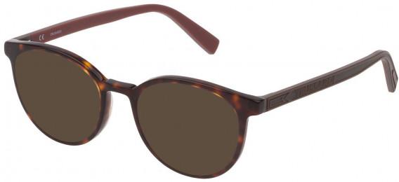 Trussardi VTR392 sunglasses in Shiny Classic Havana