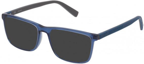 Trussardi VTR391 sunglasses in Shiny Transparent Blue