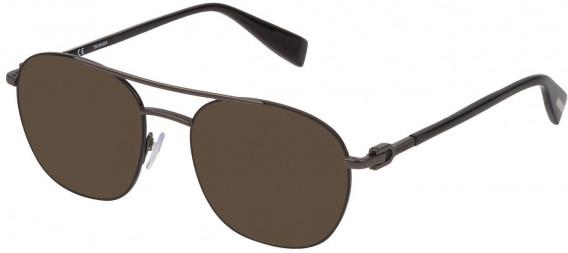 Trussardi VTR358 sunglasses in Shiny Gun/Shiny Black