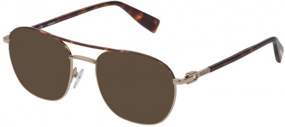 Trussardi VTR358 sunglasses in Shiny Grey Gold/Havana