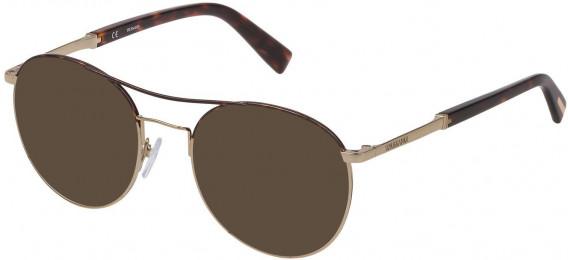 Trussardi VTR356 sunglasses in Shiny Grey Gold/Havana