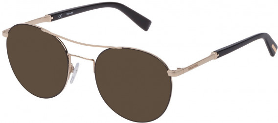 Trussardi VTR356 sunglasses in Shiny Rose Gold/Black