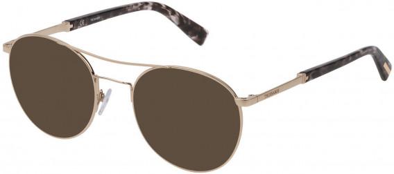 Trussardi VTR356 sunglasses in Shiny Rose Gold