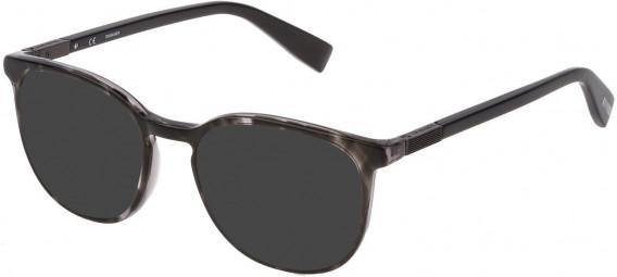 Trussardi VTR355 sunglasses in Grey/Crystal Melange