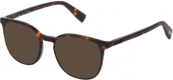 Trussardi VTR355 sunglasses in Shiny Classic Havana