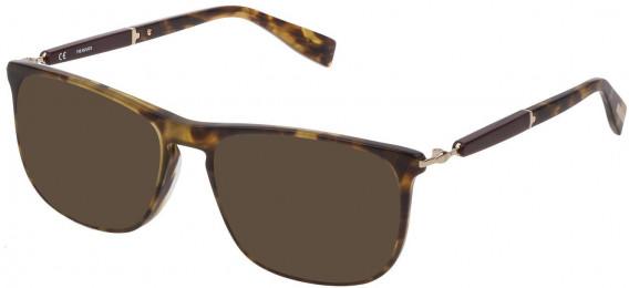Trussardi VTR352 sunglasses in Shiny Middle Havana