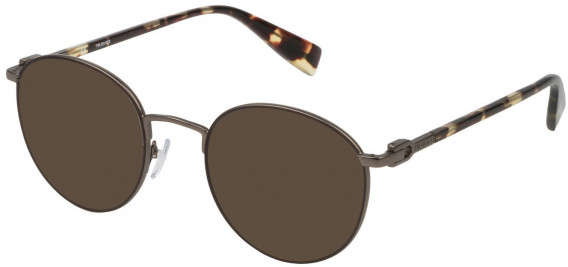 Trussardi VTR313 sunglasses in Matt Gun Metal