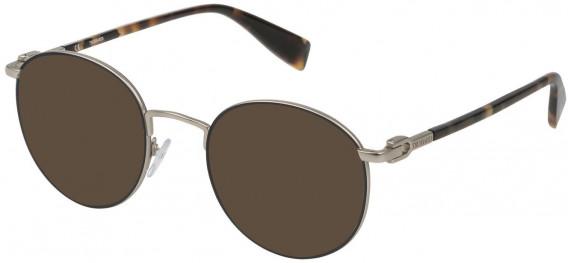 Trussardi VTR313 sunglasses in Matt Palladium