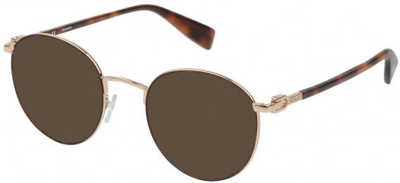 Trussardi VTR313 sunglasses in Shiny Rose Gold