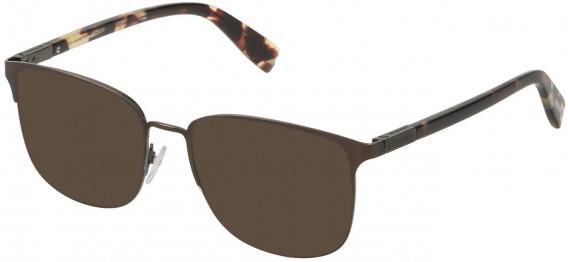Trussardi VTR311 sunglasses in Matt Antique Brown