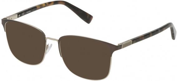 Trussardi VTR311 sunglasses in Shiny Palladium/Shiny Gun