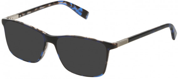 Trussardi VTR310 sunglasses in Havana/Gradient Blue