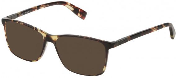 Trussardi VTR310 sunglasses in Shiny Havana/Soya