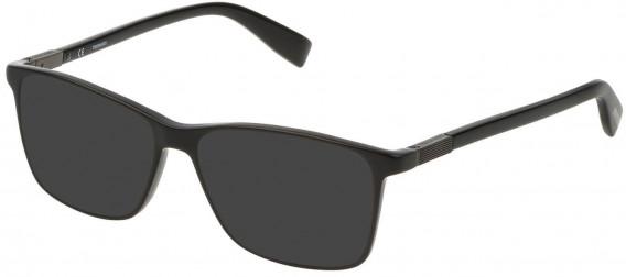 Trussardi VTR310 sunglasses in Shiny Black