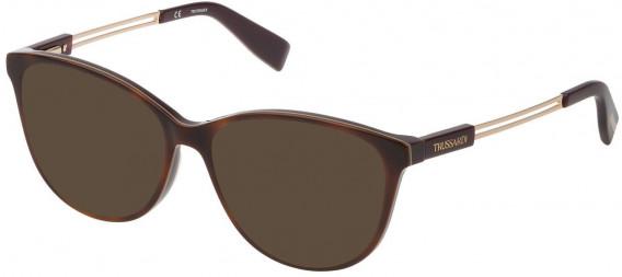 Trussardi VTR307 sunglasses in Shiny Havana/Plum