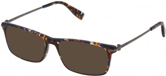Trussardi VTR249 sunglasses in Shiny Blue/Havana