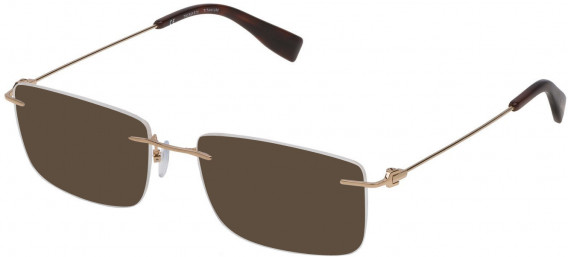 Trussardi VTR248 sunglasses in Shiny Rose Gold