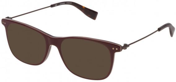 Trussardi VTR246 sunglasses in Bordeaux Top/Havana