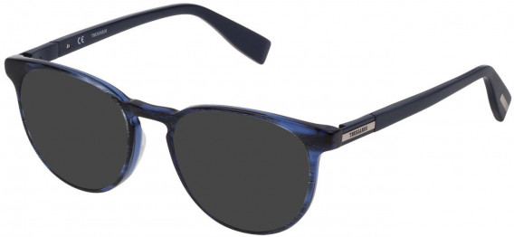 Trussardi VTR243 sunglasses in Striped Bicolor Blue