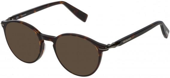 Trussardi VTR192 sunglasses in Shiny Dark Havana