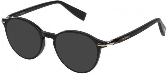 Trussardi VTR192 sunglasses in Shiny Black