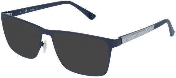 Police VPL958 sunglasses in Matt Blue