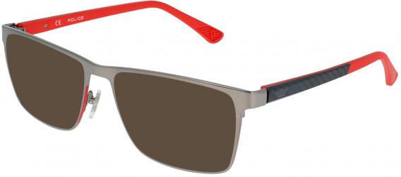 Police VPL958 sunglasses in Gun/Red