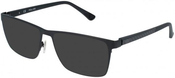 Police VPL958 sunglasses in Semi Matt Black