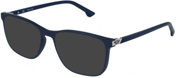Police VPL952 sunglasses in Matt Night Blue