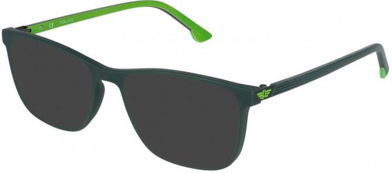 Police VPL952 sunglasses in Green/Coloured