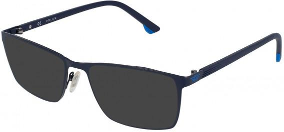 Police VPL951N sunglasses in Blue Matt